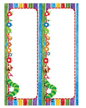 EDITABLE Hungry Caterpillar Name Plates
