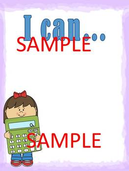 """EDITABLE """"I can"""" Sheets for state standards"""
