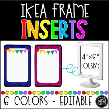 IKEA Frames Inserts | IKEA TOLSBY Frames | EDITABLE Inserts | Flag ...