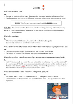 EDITABLE INCREDIBLE punct BUNDLE - Colons, semicolons, parentheses and hyphens
