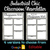 EDITABLE Industrial Chic NEWSLETTER | Newsletter Template