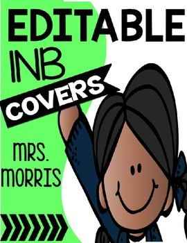 EDITABLE Interactive Notebook Cover FREEBIE