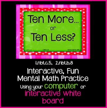 EDITABLE  Interactive Ten More, Ten Less PowerPoint Game Pack