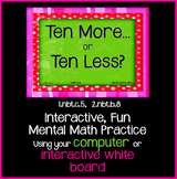 EDITABLE  Interactive Ten More, Ten Less PowerPoint Game P