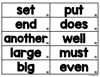 EDITABLE Interactive Word Wall Word Cards Third and Fourth 100 Word Lists