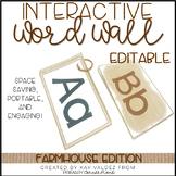 EDITABLE Interactive and Portable Word Wall Books (Farmhouse)