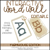EDITABLE Interactive and Portable Word Wall Books (Farmhouse)