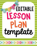 EDITABLE Interactive/Visual Lesson Plan Template
