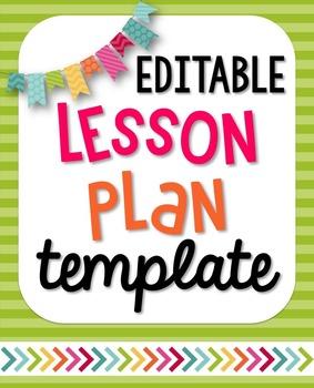 EDITABLE Interactive/Visual Lesson Plan Template