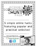 Basic Internet Skills Scavenger Hunts (EDITABLE webquest)