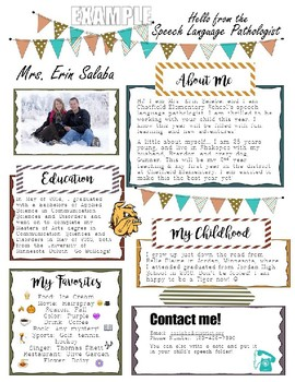 Editable Introduction Letter To Parents For Speech