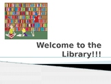EDITABLE Introduction to the Library Powerpoint
