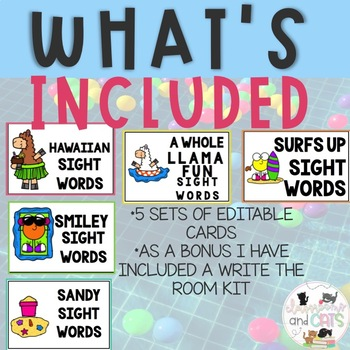 EDITABLE JULY sight word games