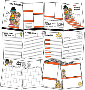 EDITABLE JUNE -FLIP BOOKS - MONTHLY NEWSLETTERS - CALENDARS - TO-DO-LISTS