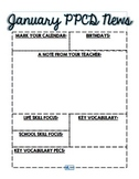 EDITABLE January PPCD Newsletter Template