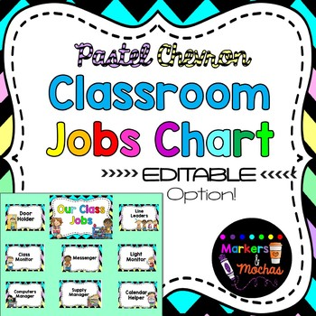 EDITABLE Jobs Chart ~ Pastel Chevron