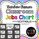 EDITABLE Jobs Chart ~ RAINBOW Chevron