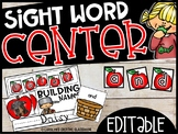 EDITABLE Johnny Appleseed   Building Sight Words or Names (USE ANY WORD LIST!)
