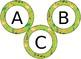 EDITABLE Jungle Sufari themed circular bulletin board letters