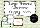 EDITABLE Jungle Themed Classroom Supply Labels