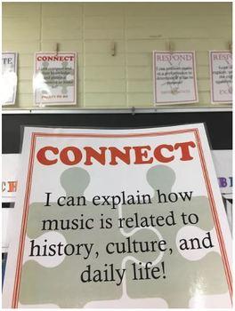 EDITABLE Kid Friendly Music Standard/Goal Posters