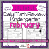 Math Morning Work Kindergarten February Editable, Spiral R