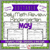 Math Morning Work Kindergarten May Editable, Spiral Review