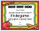 EDITABLE - Kindergarten First Week Certificate