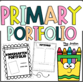 Kindergarten Portfolio - Memory Book - Year Book - Monthly Writing - for Primary