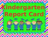EDITABLE Kindergarten Skills Report Card
