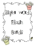 EDITABLE Kindergarten sight word flash cards
