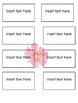 EDITABLE Kindergarten sight word flash cards