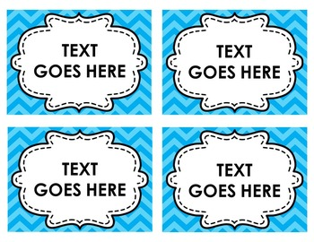 EDITABLE LABELS IN 2 STYLES, 8 COLORS AND 3 SIZES (CHEVRON)