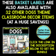 EDITABLE LABELS for DOG THEME by CLUTTER FREE CLASSROOM