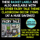 EDITABLE LABELS for FAIRY TALE THEME by CLUTTER FREE CLASSROOM