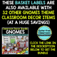 EDITABLE LABELS for GNOMES THEME by CLUTTER FREE CLASSROOM