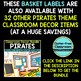 EDITABLE LABELS for PIRATES THEME by CLUTTER FREE CLASSROOM