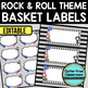 EDITABLE LABELS for ROCK AND ROLL THEME by CLUTTER FREE CLASSROOM