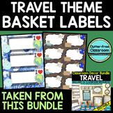 Travel Theme Classroom Decor Labels