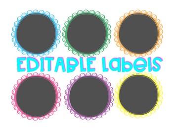 EDITABLE Labels: Black