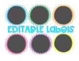 EDITABLE Labels: Black