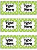 EDITABLE Labels {Black & White plus BRIGHTS} Polka Dots