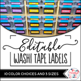 EDITABLE Labels - Black and Washi