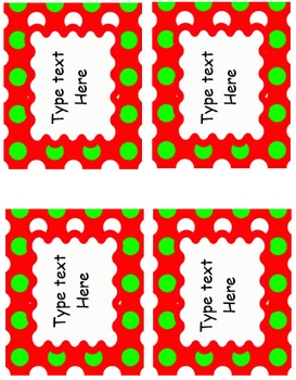 EDITABLE Labels - Christmas Pack
