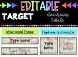 EDITABLE Labels * Fits Target Adhesive Label Pockets * Floral Wood