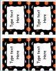 EDITABLE Labels - Halloween Pack