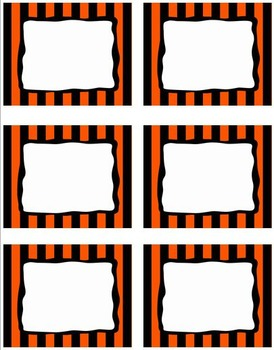 EDITABLE Labels - Halloween Stripe FREEBIE