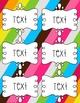 EDITABLE Labels - Multi-Colored