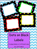 EDITABLE Labels - Polka Dots on Black