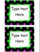 EDITABLE Labels - Polka Dots on Black